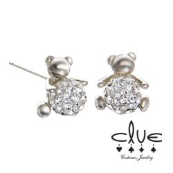 petit sitting bear earring